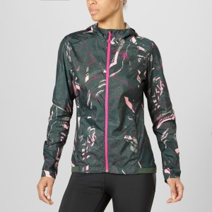 AGILE WIND PRINT HOODIE JKT - SALOMON - VESTE TECHNIQUE