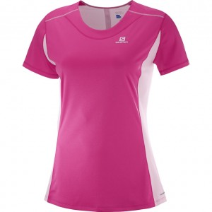 AGILE HEATHER TEE W - SALOMON - HAUTS