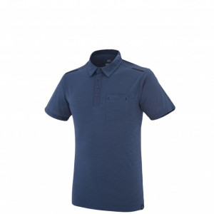 IMJA WOOL POLO - MILLET - POLOS-TEE SHIRTS