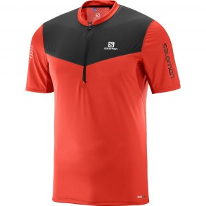 FAST WING HZ SS TEE M - SALOMON - Maillot