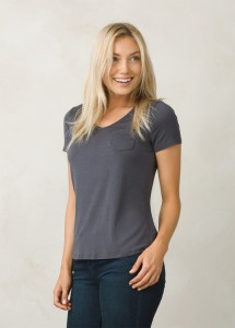 FOUNDATION S/S VENECK TOP - PRANA - T-SHIRT